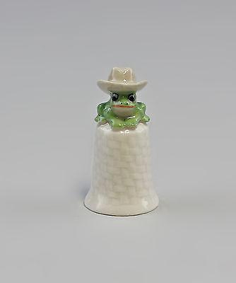 Porzellan Fingerhut Frosch mit Cowboyhut H4,8cm 9982237