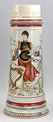 Großer Sänger- Bierkrug Bier-Humpen um 1900 99848002 1