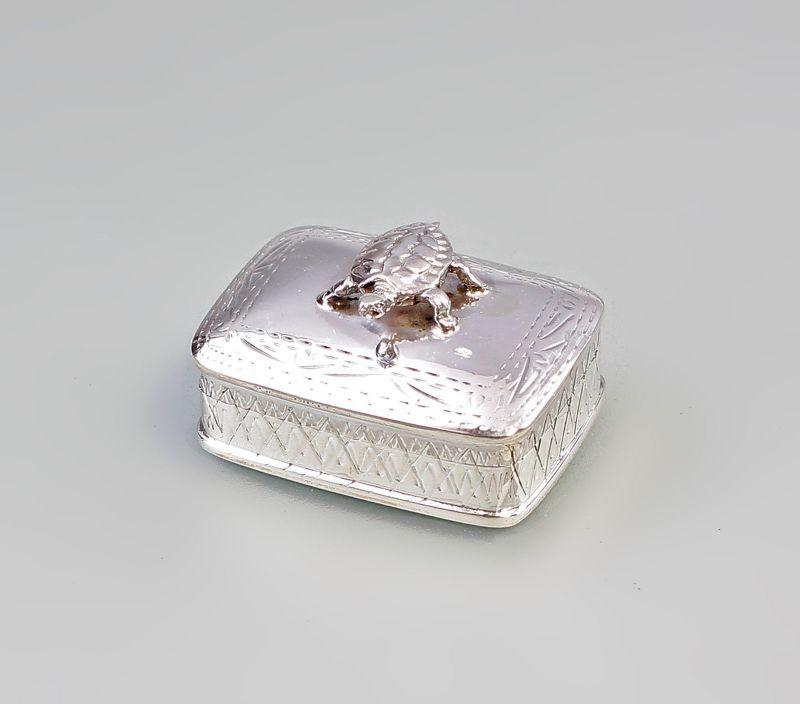 Silberne Pillendose Pillendöschen Schildkröte 925er Silber 9927418