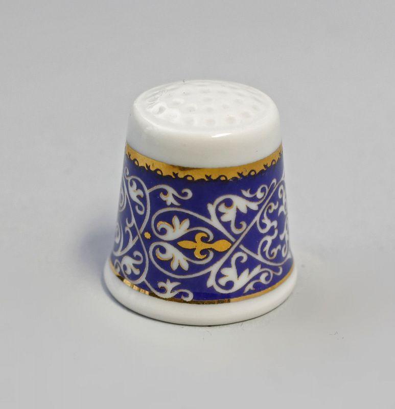 Fingerhut Ornamentbordüre gold/blau Kämmer 9988220
