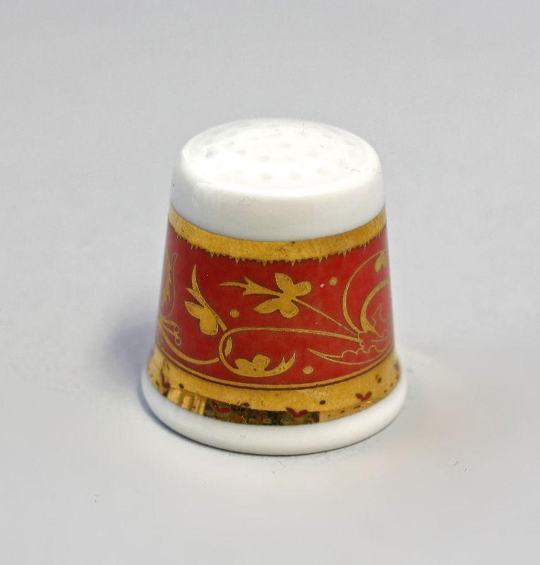 Fingerhut Blumenbordüre gold/rot 9988225