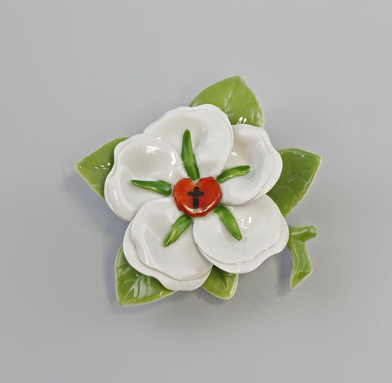 Porzellan Blume Martin Luther-Rose Tischrose Kämmer 8x4cm 9944377