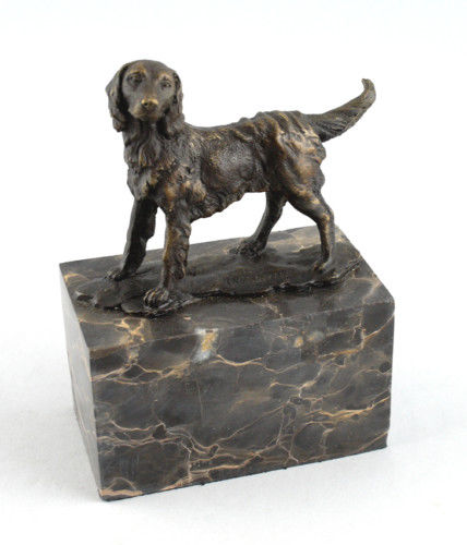 Carvin, L., Skulptur Plastik Jagdhund Bronze H7cm 9937061-dss