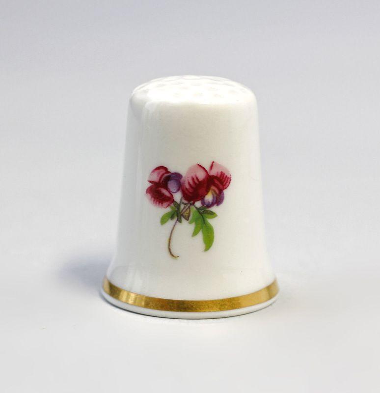 Kämmer Porzellan Fingerhut Blume Löwenmäulchen 2,4x3cm 9988203