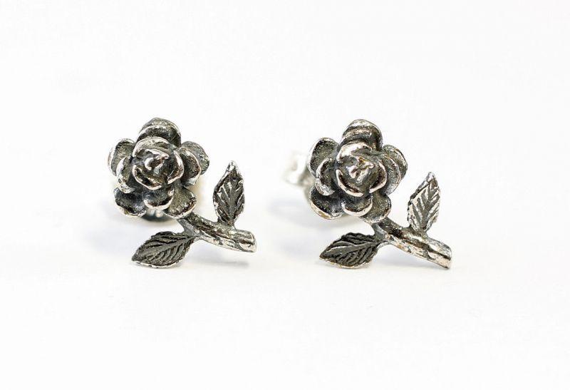 9901094 925er Silber Ohrstecker Ohrringe Rose