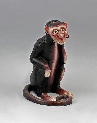 Eisen -Guss Figur als Spardose Affe bunt  9937585