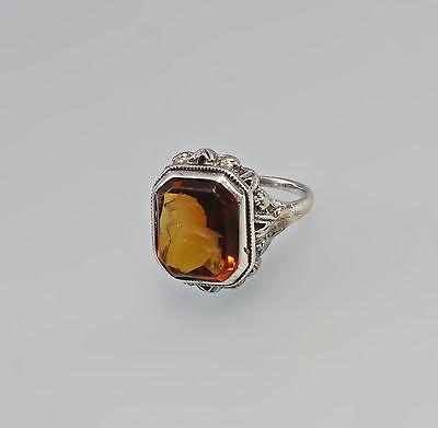 Silberner Intaglio-Ring mit orange- rotem Stein Gr. 51/52 99825410