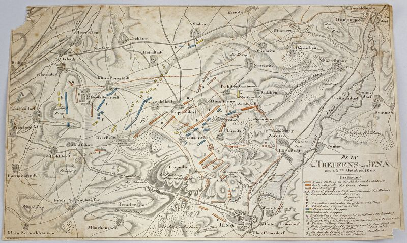 Map Plan of the meeting bey Jena 1806 Napoleon 99890040