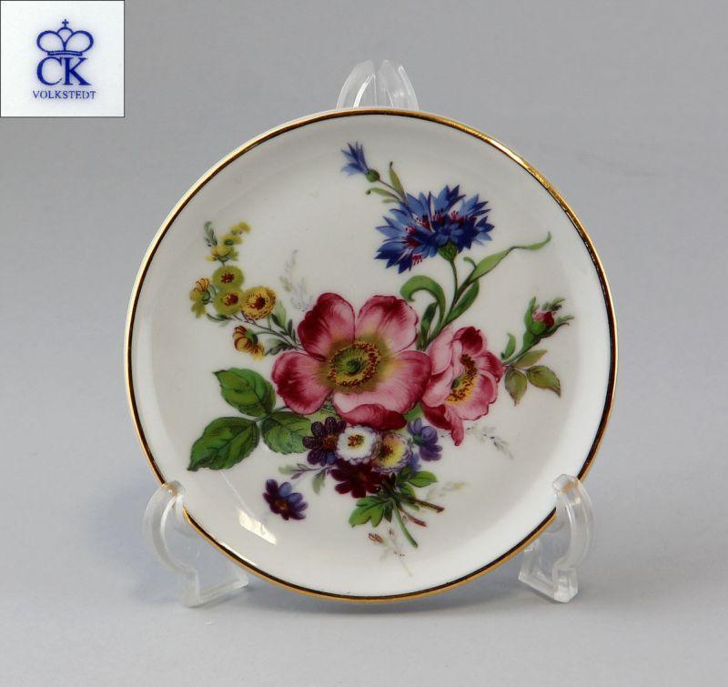 9988036 Porzellan Teller Untersetzer Blumen Kämmer D10cm