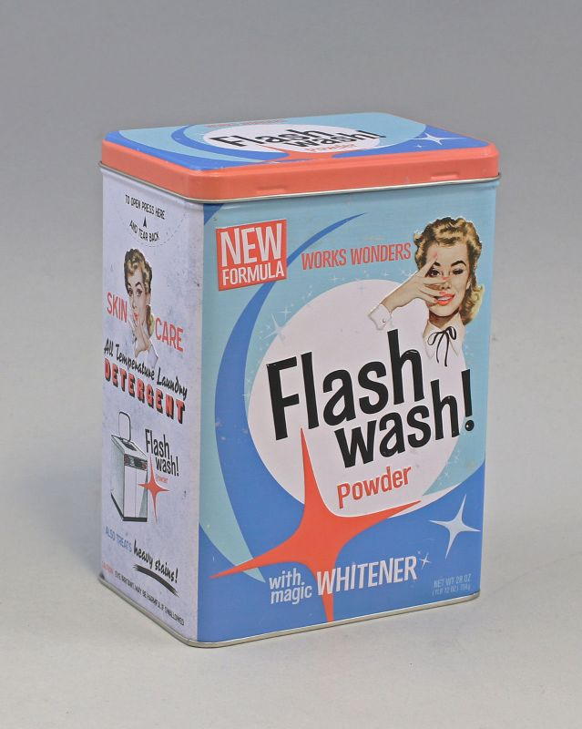 9974057 Reklame Vorratsdose L Flash Wash Retro Package H20cm
