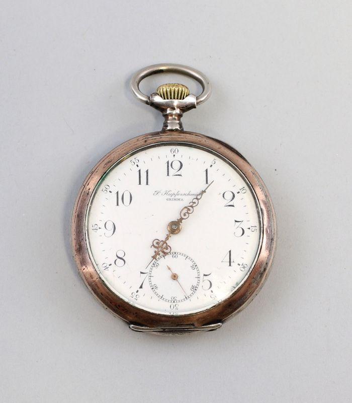 8120003 Silberne Taschenuhr Omega um 1910