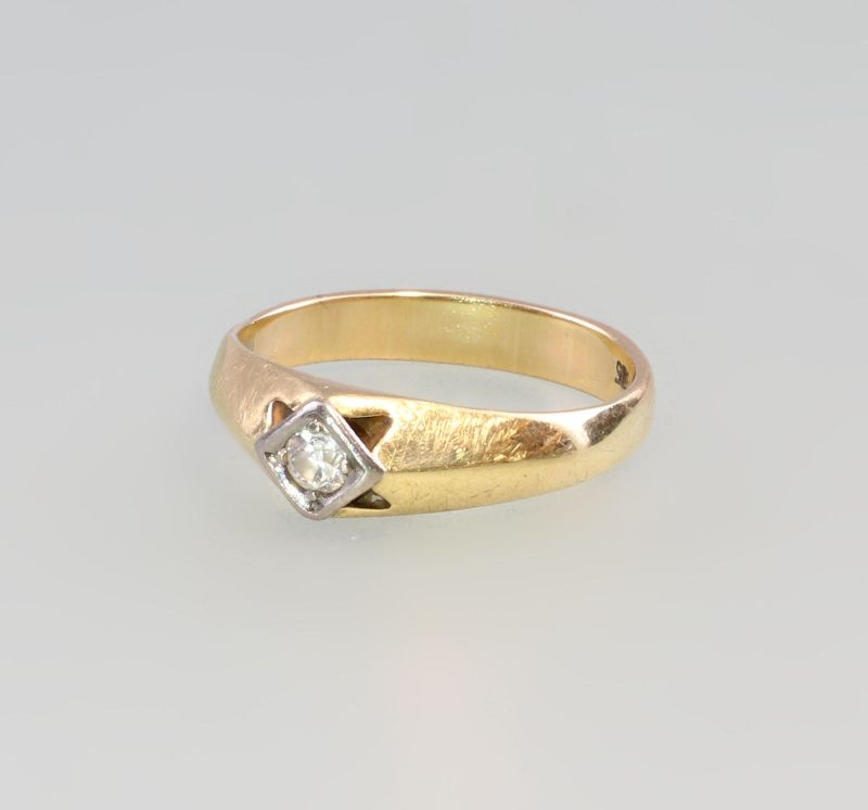 8025068 Brillant-Ring 585er GG Gold Gr. 59