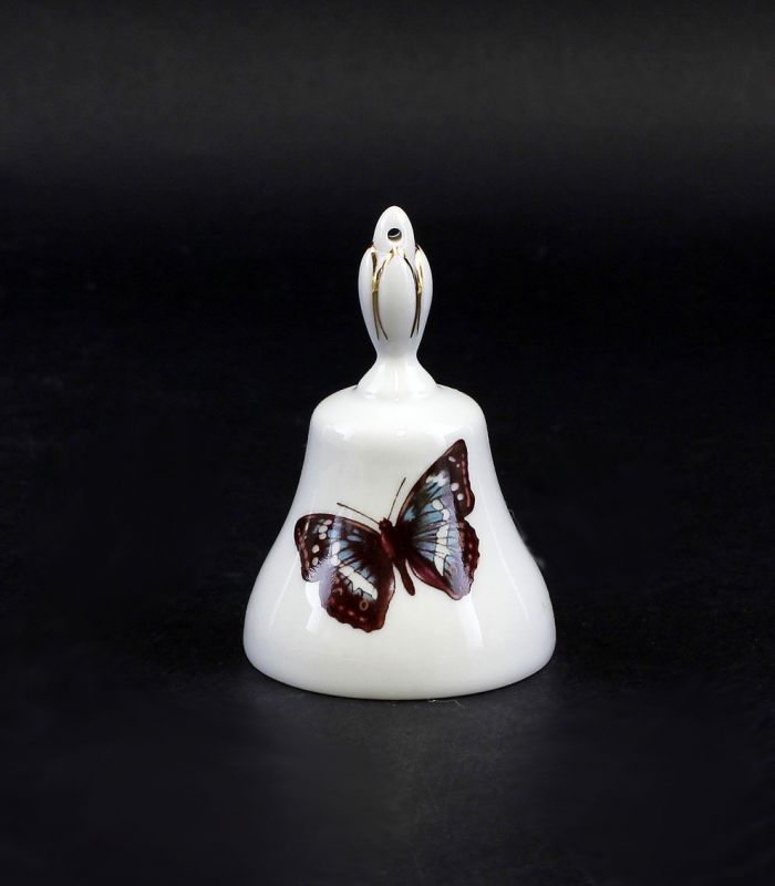 Porzellan Tischglocke mit Schmetterlings-Dekor Lindner Bayern 9986068
