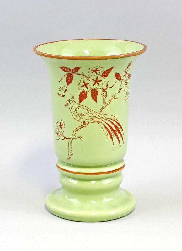 Opalinglas-Vase Haida dekoriert  mit Paradiesvogel 99835032
