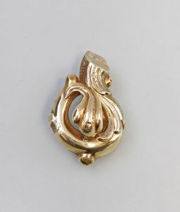 375er Gold Spät-Biedermeier-Brosche 99825135