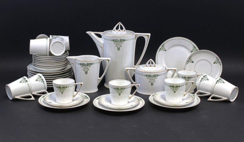 8140060 Porzellan Kaffee-Service f. 12 Personen Hutschenreuther Jugendstil