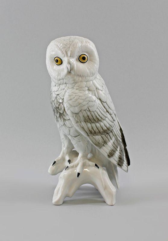 Porzellan Figur große Schneeeule Eule Vogel Ens H25cm 9997854#