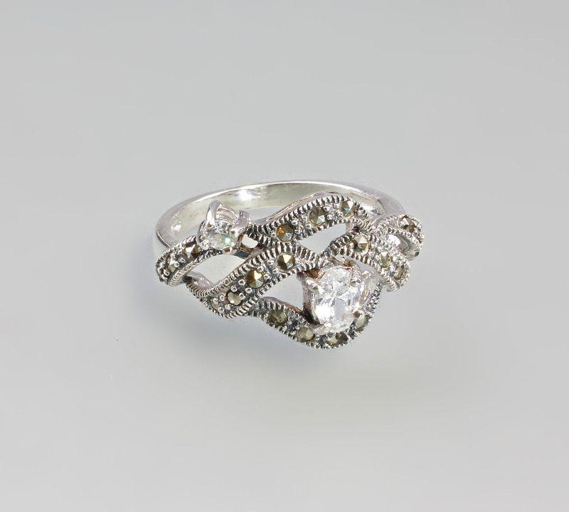 925er Silber Ring weiß  Neu  Gr.59  9907178