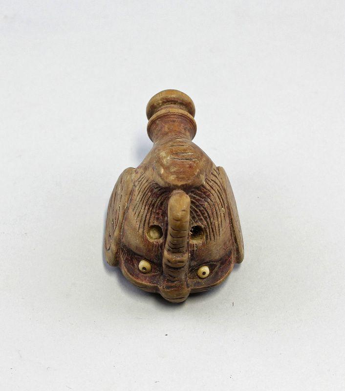 Konvolut Kleinfiguren Asien Holz Pfeifenkopf Flaschenverschluß 99839053 2