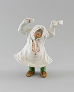 Porzellan Figur Ens Wackelfigur Großvater Opa H19cm beweglich 9997009