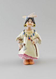 Porzellan Figur Ens Wackelfigur Indianer-Mädchen H15cm beweglich 9997087