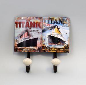 Haken-Leiste Garderobe MetallSchiff Titanic Vintage Shabby Chic 9973167
