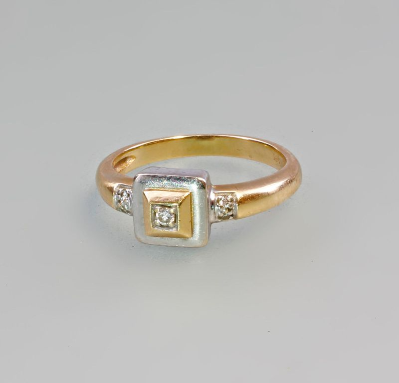 585er Gold Ring Brillant Art deco 99825306