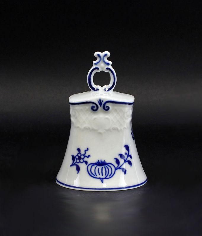 Porzellan Tischglocke Lindner Zwiebelmuster Blaudekor 9986044