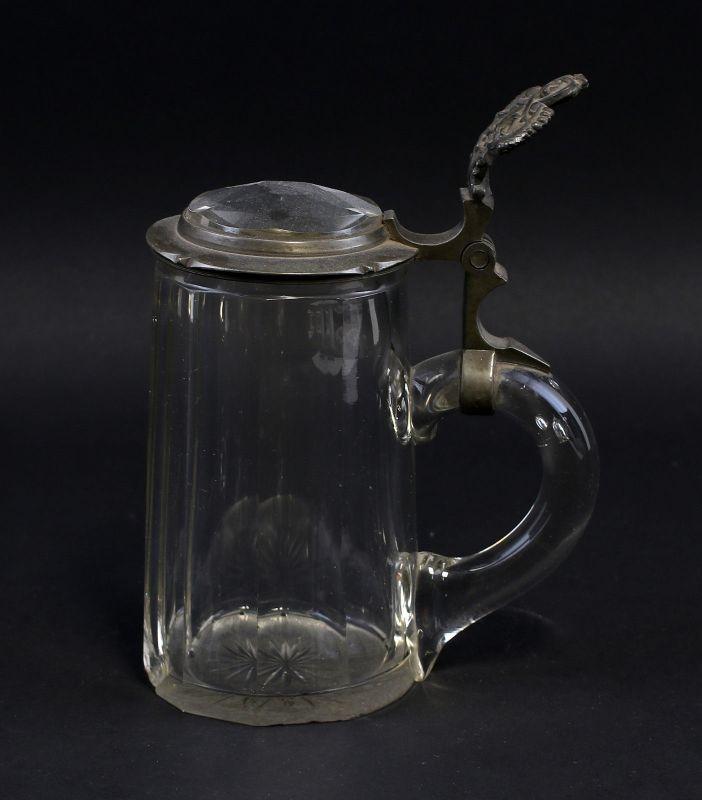 8135044 Glas Bierkrug Deckel mit Glaseinsatz