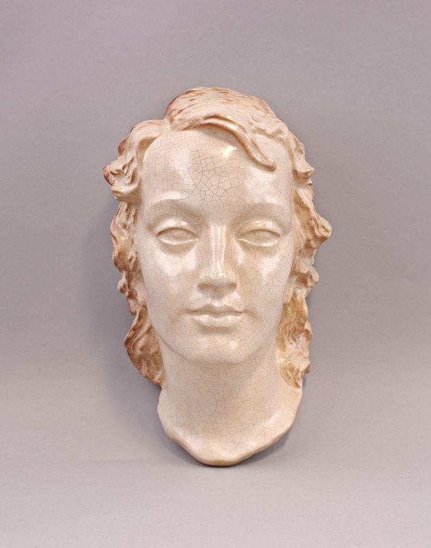 Keramik Wandmaske Frauenkopf  99845228