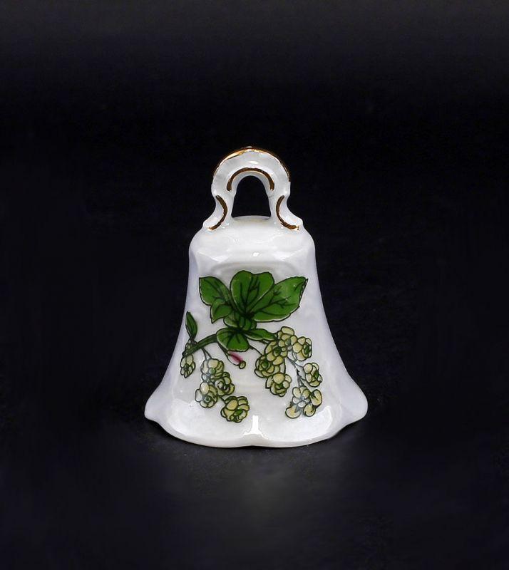 Porzellan Tischglocke mit grünem Dekor Lindner Bayern 9986048