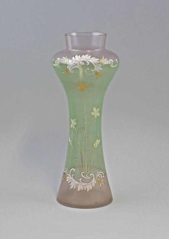Jugendstil-Vase Emailmalerei Ende 19.Jh 99835255
