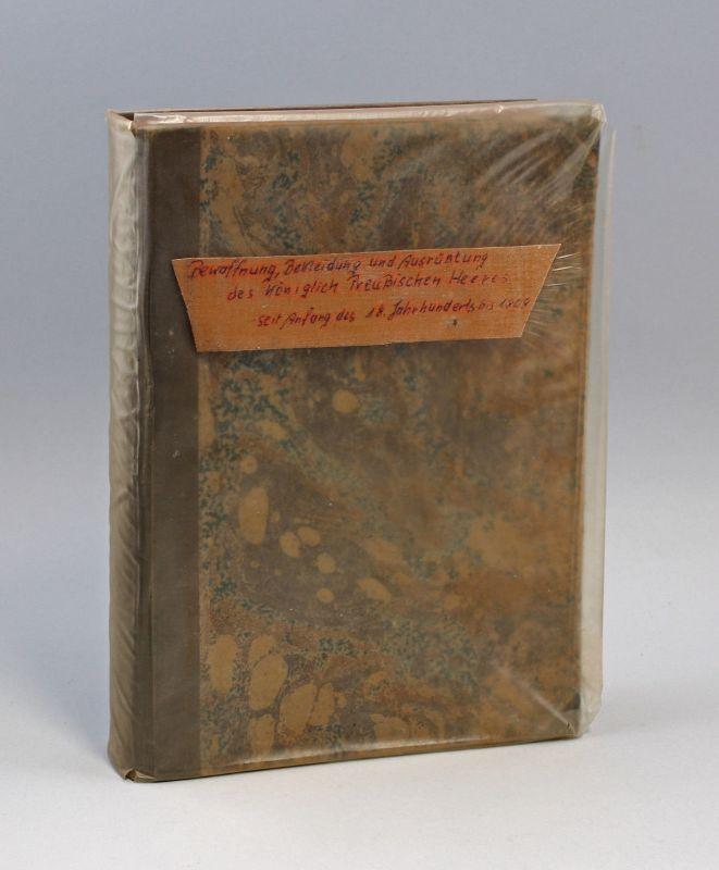8090007 Geschichte der Bekleidung, Bewaffnung...des Preußischen Heeres 1906
