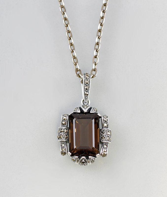 925er Silber Collier Rauchquarz 9907129/7025121