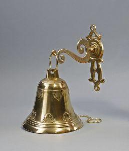 Goldfarbene Wand-Glocke Klingel Messing poliert 9977155