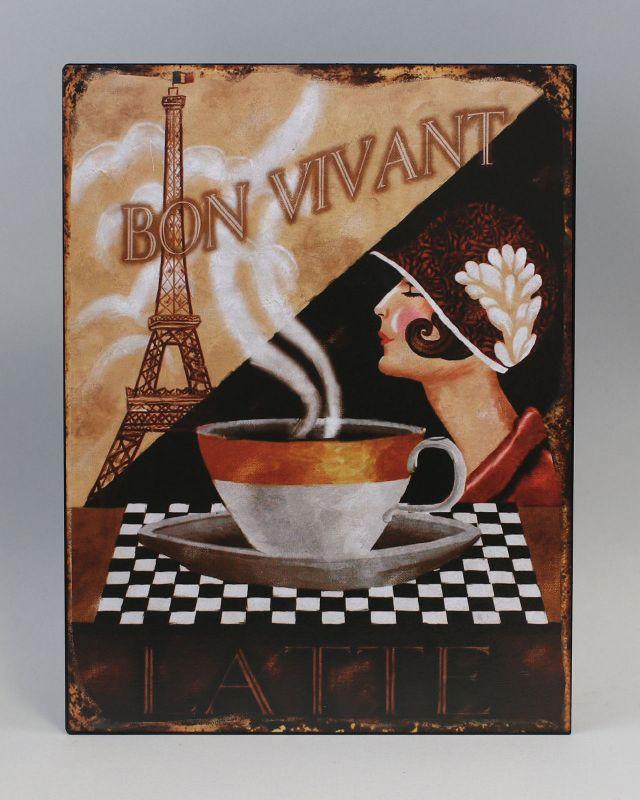 Reklameschild Blechschild Eifelturm Paris Art deco Vintage Nostalgie 9973215