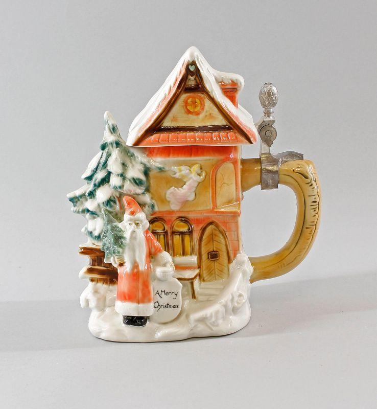 Bierkrug Sammler-Krug Humpen Weihnachten-Haus Ernst Bohne H19cm 9997984