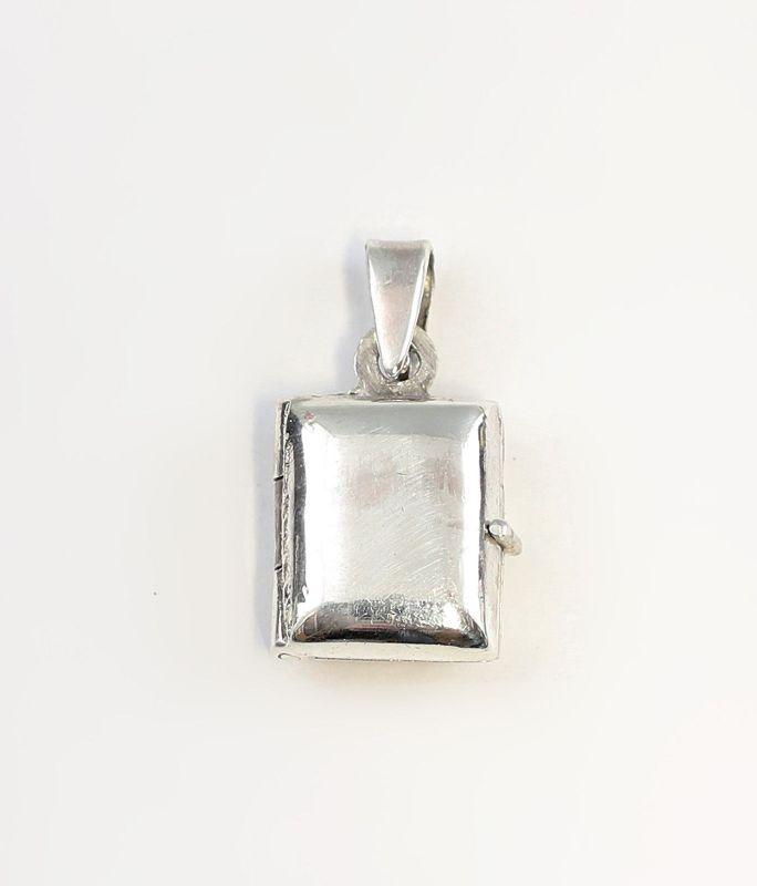 9927052 925er Silber viereckiger Medaillon-Anhänger