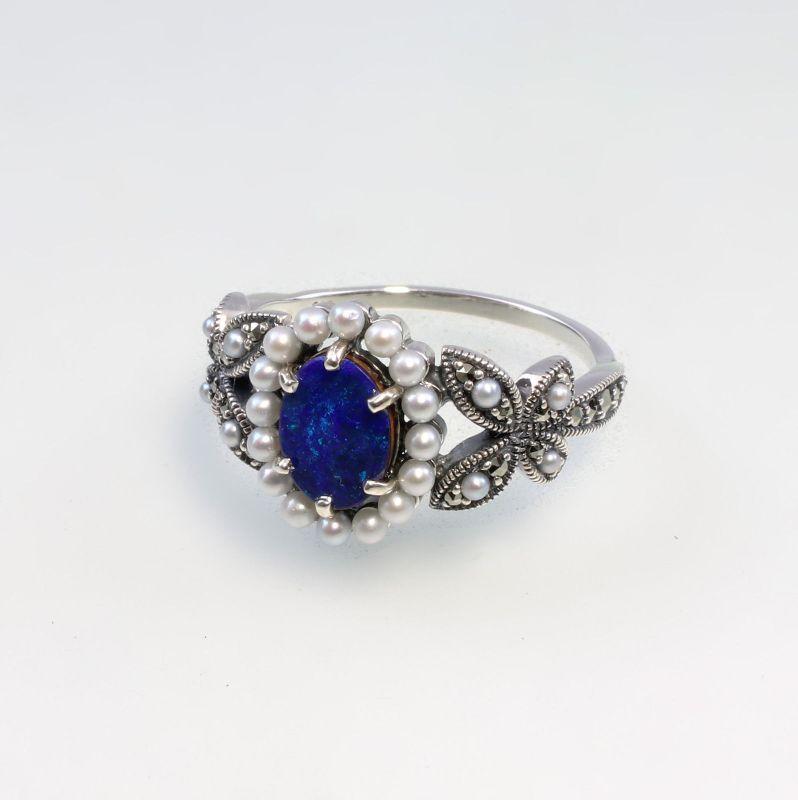 9927128 925er Silber Opal-Perlen-Ring Gr.56