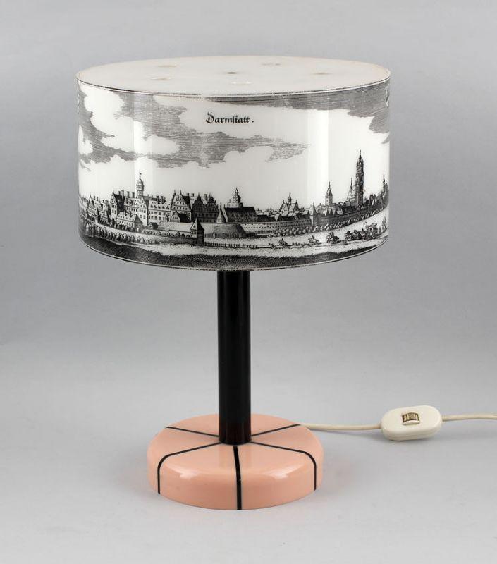 Design-Tischlampe Röhm&Haas Plexiglas histor. Ansicht Darmstadt 99868024