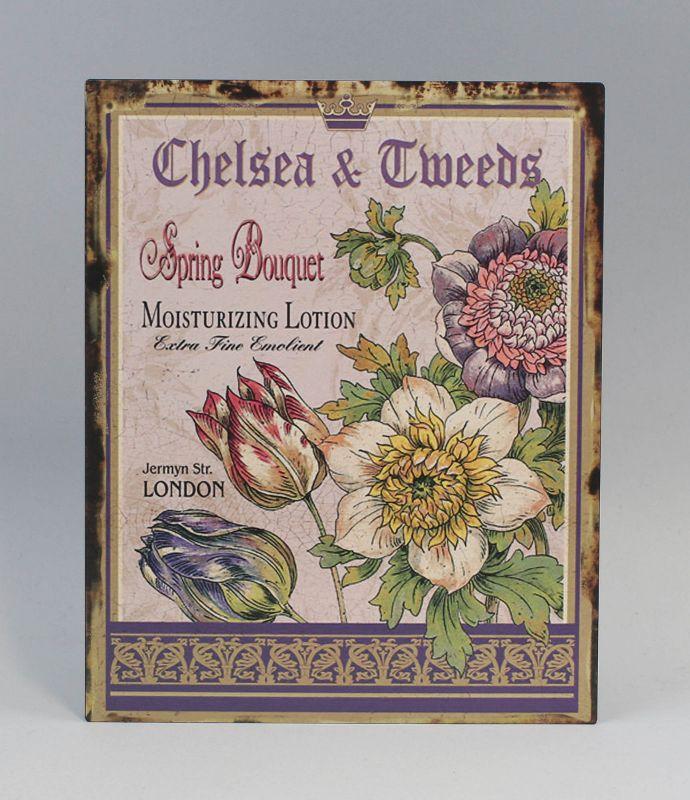 Reklameschild Blechschild Blumen  Vintage Nostalgie 9973220