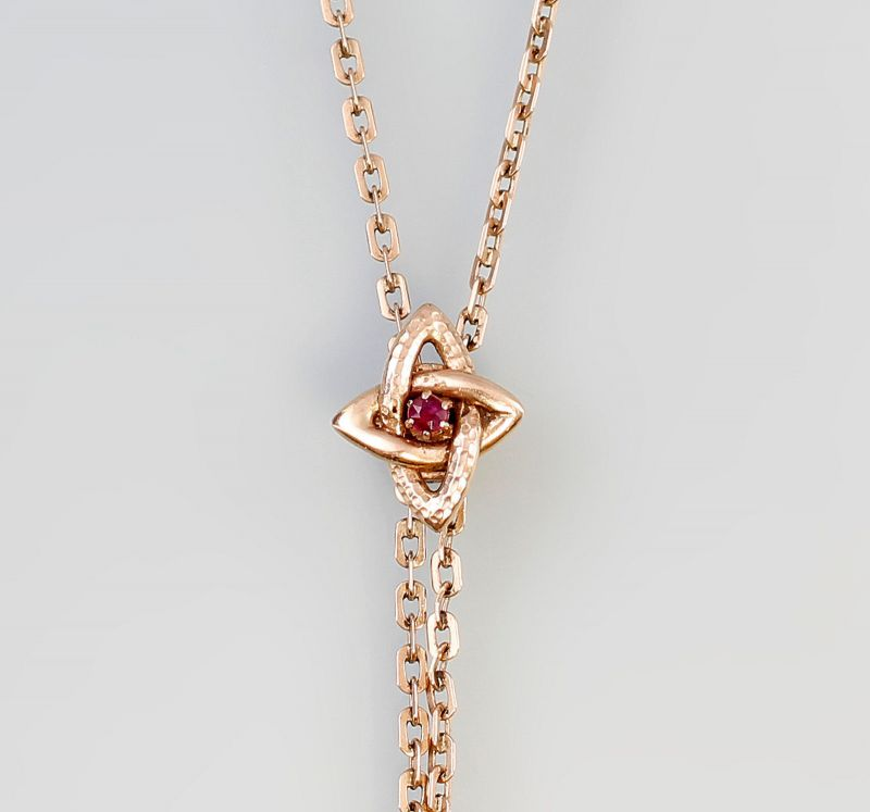 585er Gold Antike Schieberkette Jugendstil Rubin 99825138