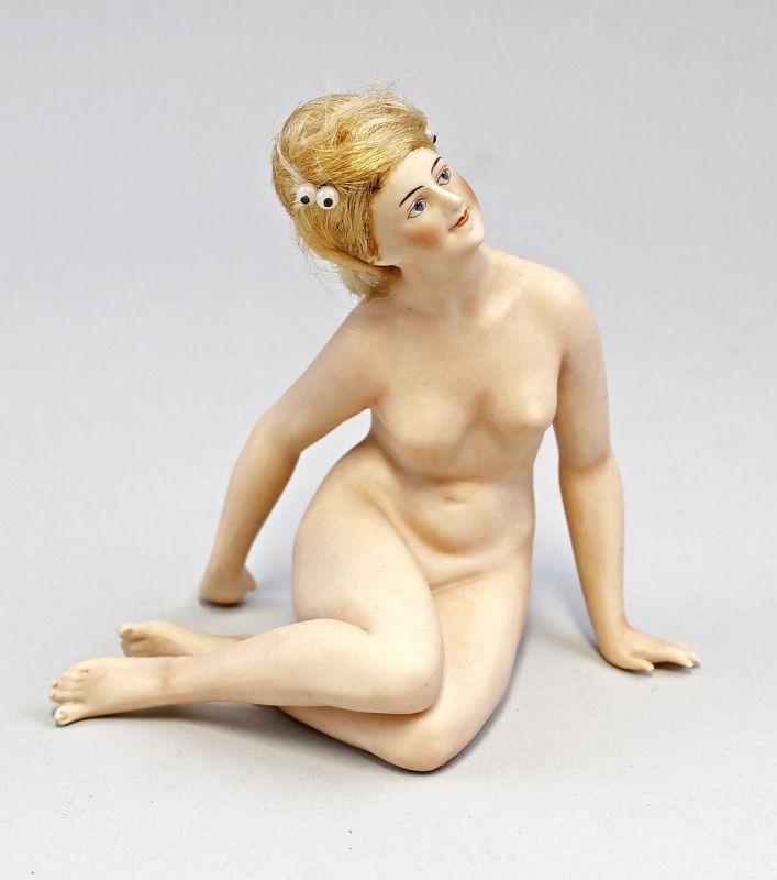 Bathing Beauty Puppe Goebel um 1910/20 Akt einer sitzenden Dame 99840007