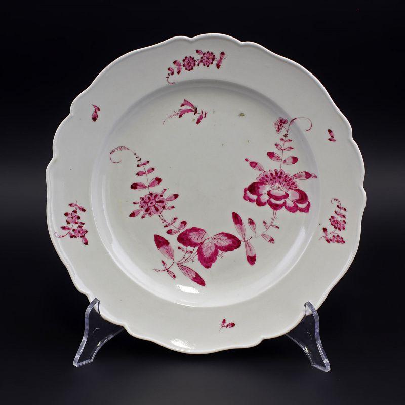 Porzellan Teller Meissen Marcolini Schwerter 1774-1814 indisch Purpur 99840095