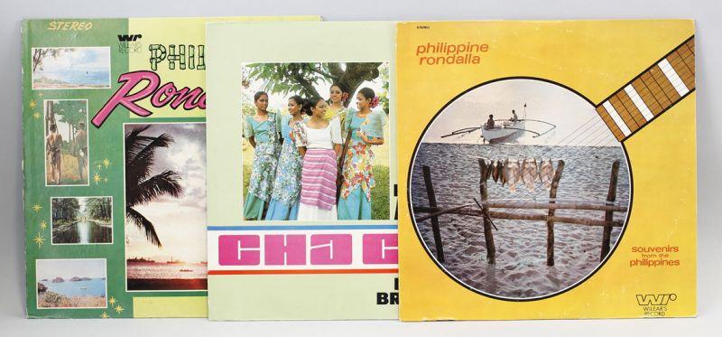 3 x Vinyl LP Philippine Music Rondalla Wilear's Rec. Folk World Library 9980468