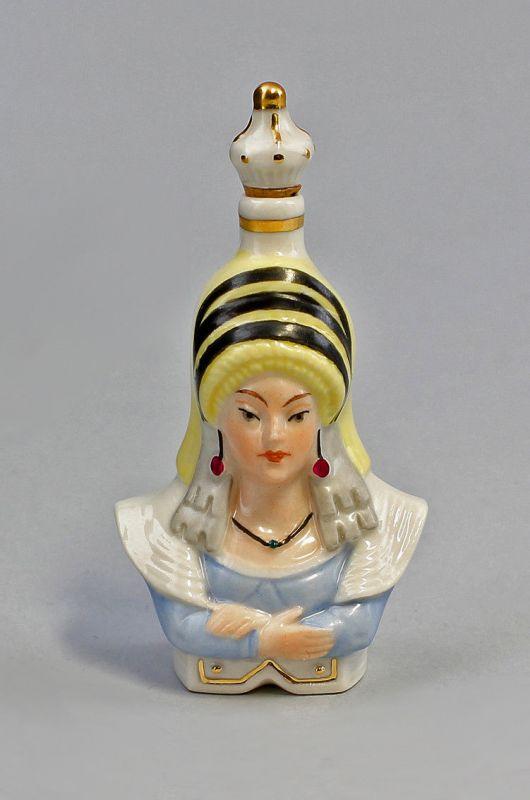 9941129 Porzellan Figur Ens Schnupftabakdose Parfüm-Flakon Suleika Ens H9cm