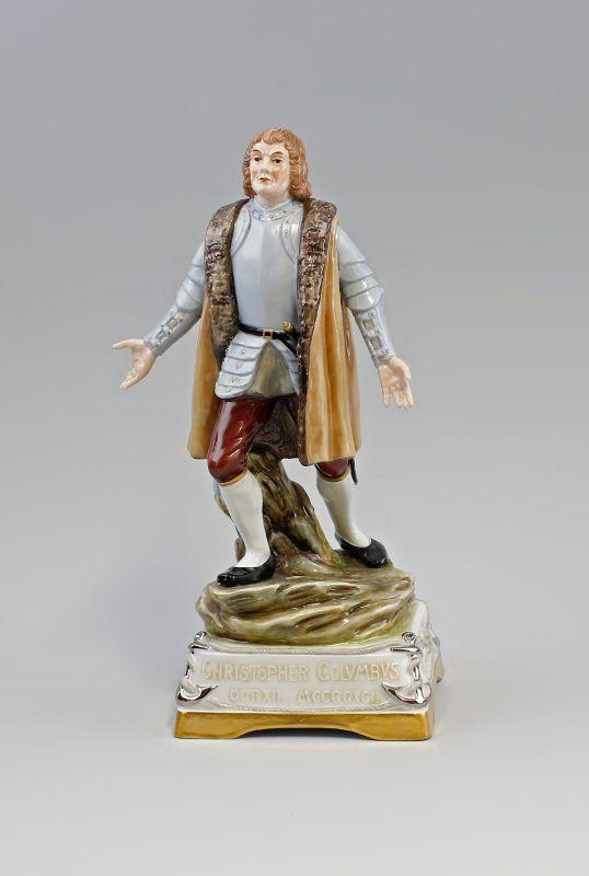 Porzellan-Figur Christopher Columbus Amerika 1492 Scheibe-Alsbach 99840024