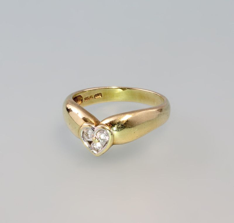 7925128 Brillant-Ring Herz 585er Gold Gr. 55