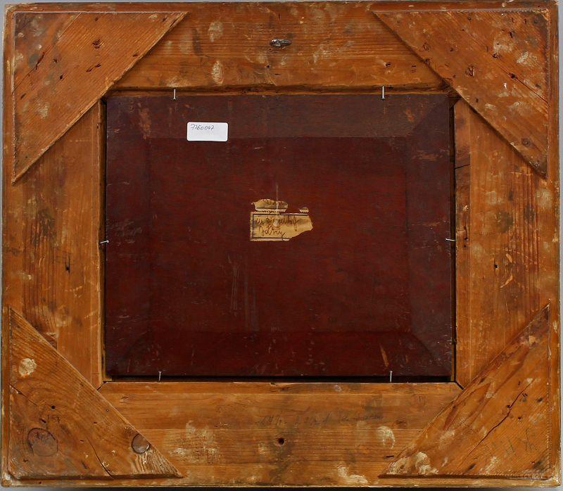 Öl-Gemälde signiert Carl Jutz d.Ä. 1869 Enten und Hühner in Stuckrahmen 99860103 2