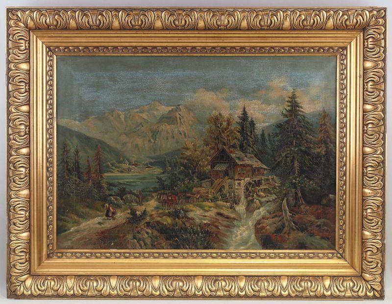 959da13877 8160013 Öl-Gemälde signiert Georg Heinrich Alpen Landschaft Jenbach  Unterinntal 0